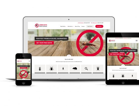 New Website Design by Giant Media - Complete Pest Control
